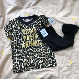 NWT Crewcuts Girls Tee and Pant set size 2